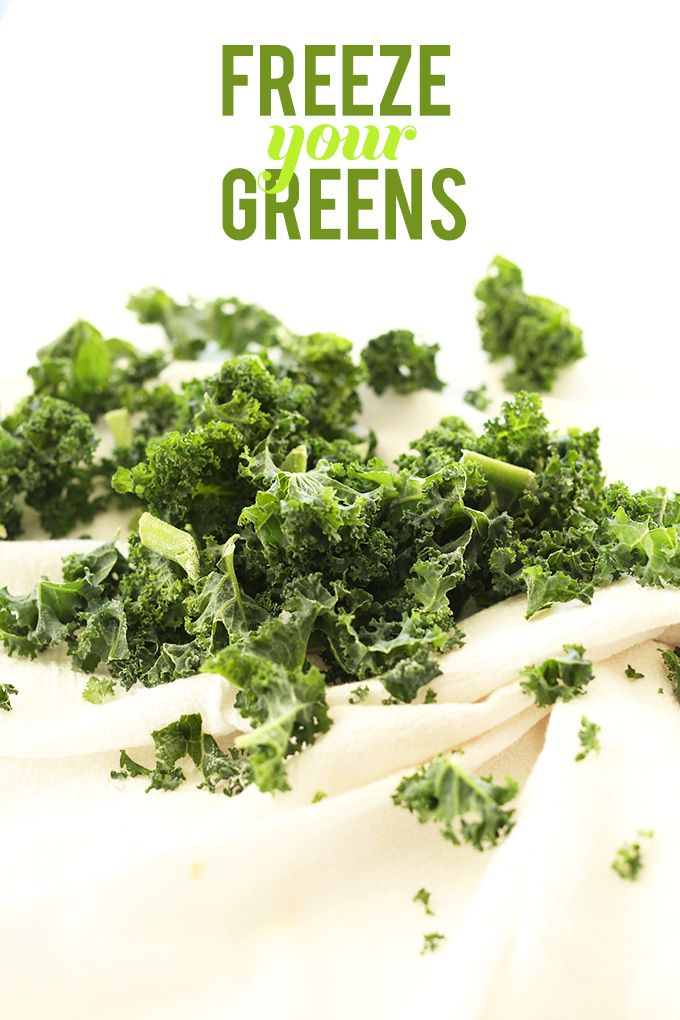 Freeze Your Greens for Smoothies | An affordable way to always have dark leafy greens around!