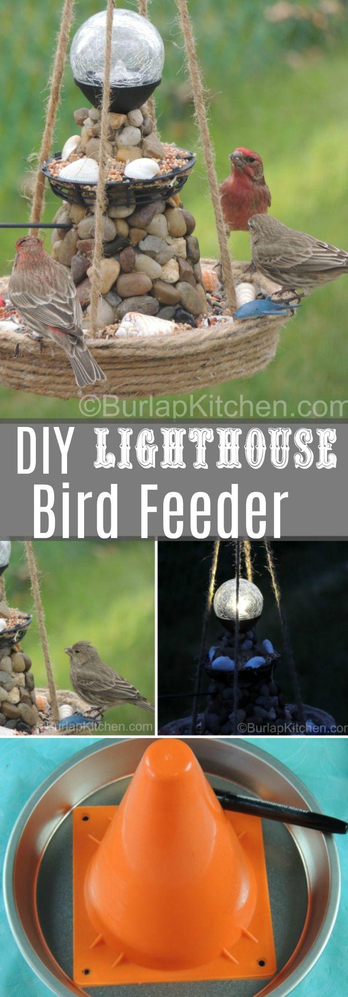 A fun craft for the birds! This Lighthouse bird fe…