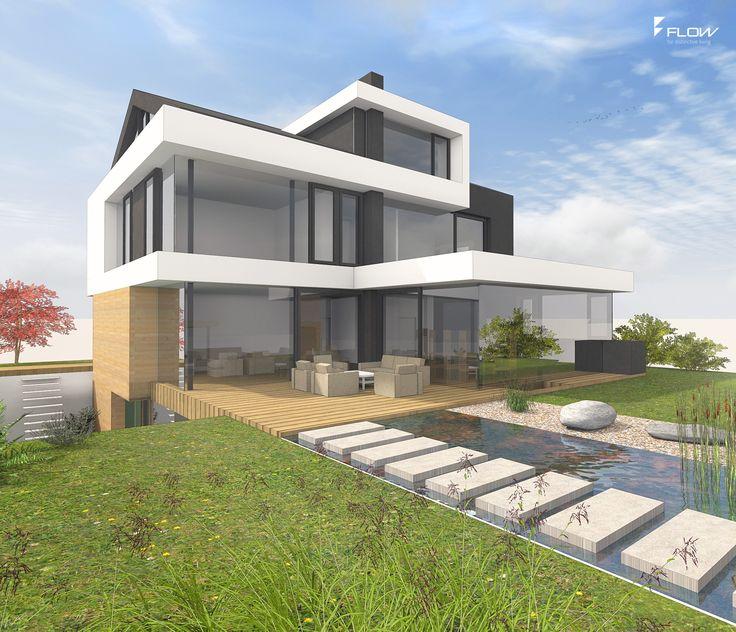modernes satteldachhaus mit gauben by. Black Bedroom Furniture Sets. Home Design Ideas