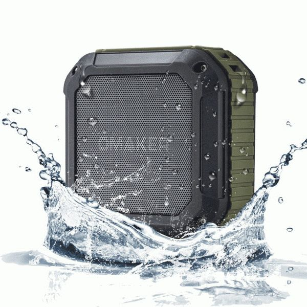 Awesome little speaker. Impossible to find instructions for it but so easy to use you don't really need the,. Omaker M4 Rugged Splashproof & Shockproof Outdoor Portable NFC Bluetooth Speaker