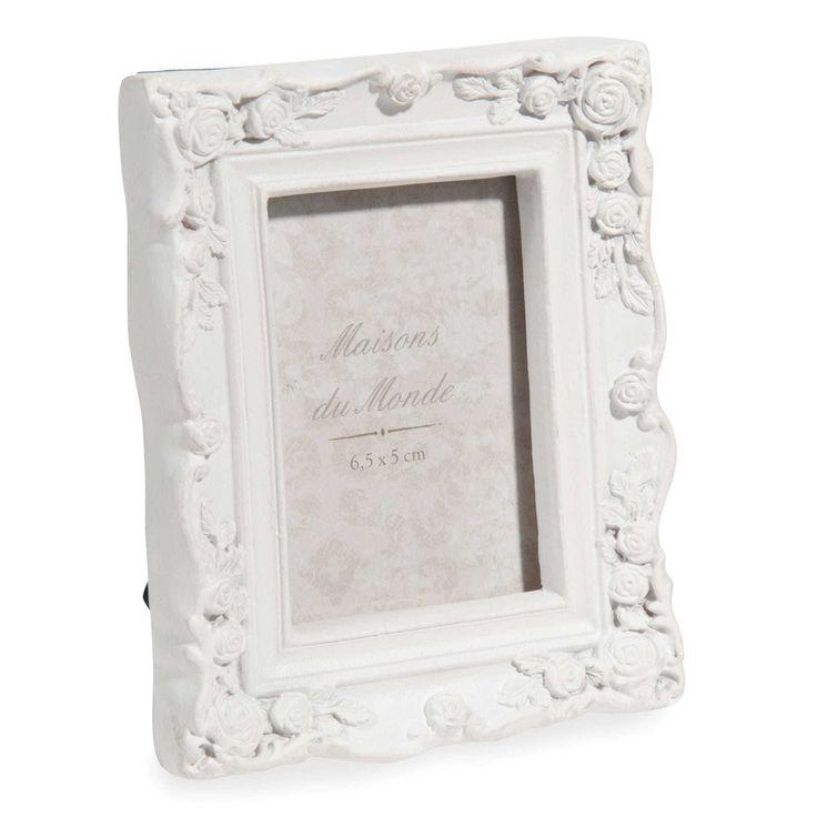 ALBERTINE white photo frame 5x6,5 cm