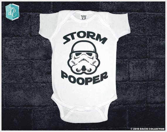 Storm Pooper. Star Wars Onesie. Star Wars Infant Bodysuit.    Welcome to Dachi Collective!!   The force is strong with this one....that is, this