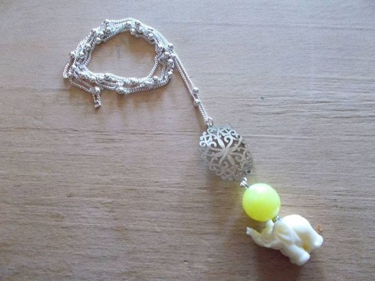 chain & yellow quartz