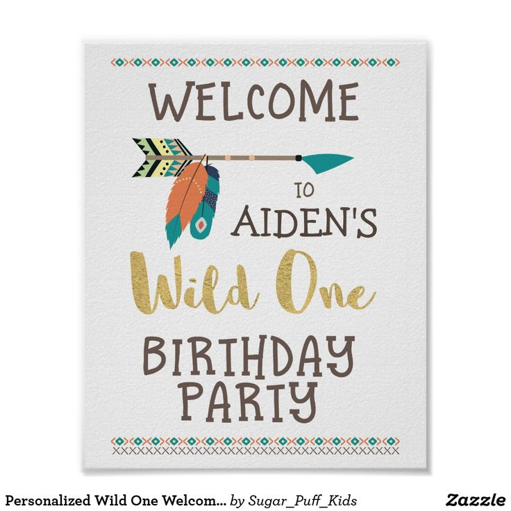 Personalized Wild One Welcome Party Poster