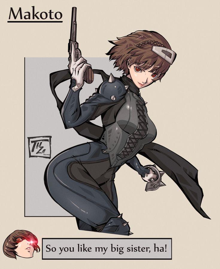 Makoto final version | Persona 5 makoto. Persona 5