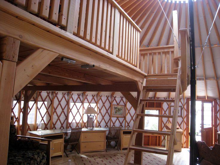 pictursof yurts | Foodsmithing» Blog Archive » Yurt Loft Beautiful