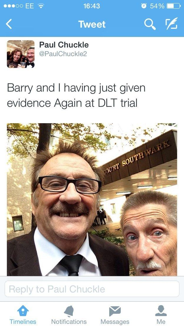 Chuckle brothers' Yewtree selfie.
