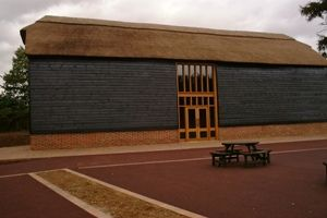 This is the outside of the North Barn at Aylesford Priory where the reception will be held...
