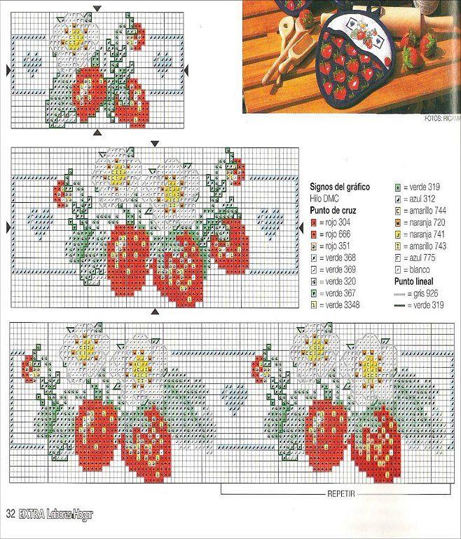 49 best Punto cruz paños cocina images on Pinterest | Bordado de ...