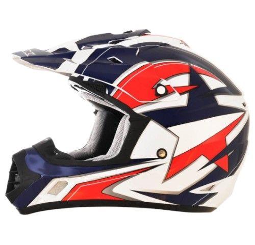 Afx Fx-17 Helmet Fx17 Lone Star M 0110-4442, Blue