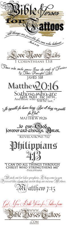 BEST Tattoo Designs with Meaning... Get THE *TOP* BIBLE VERSES TATTOOS NOW...so You Can PRINT Them & BRING To Your Favorite Tattoo Artist... http://bibleversestattoos.com/ #versestattoos #versetattoo #versetattoos #bibleversustattoos #bibleversestattoos #bibletattoos #bibleversestattoo #bibleversetattoo #scripturetattoos #tattooscriptures #bibleversesfortattoos #bibleversesfortattoos #bibleversetattoo #versestattoo