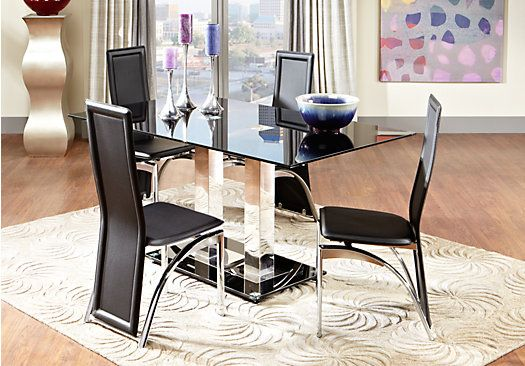 tuxedo park 5 pc dining room at rooms to go find dining room sets