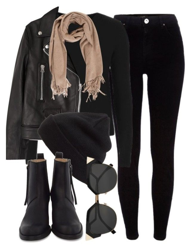 """Untitled #5937"" by laurenmboot ❤ liked on Polyvore featuring River Island, Topshop, Acne Studios and BP."