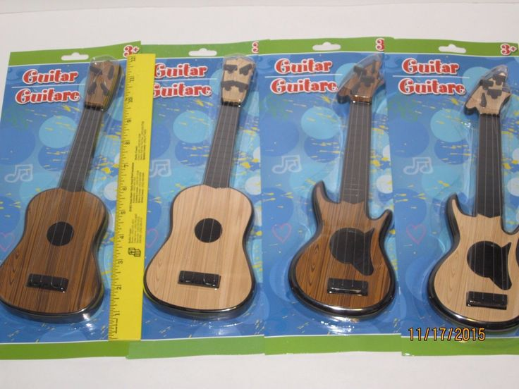 Toy Guitar 11 w/4 Strings  Pretend Play Toddlers Music Acoustic Electric