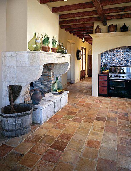 terra cotta floors. LOVE!!!!