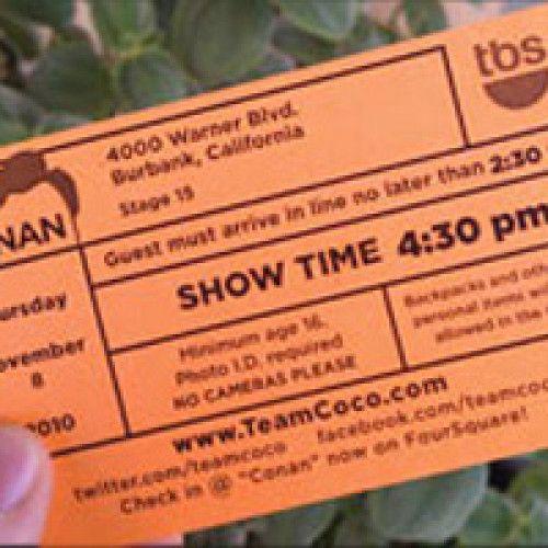 Conan Free Tickets Request