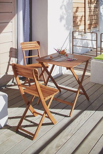 Meuble petite terrasse balcon fauteuil chaise et table - Table up and down alinea ...