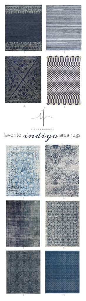 Here are my favorite indigo rugs, they are classic, casual and will give a neutral pop of color to any space in your home