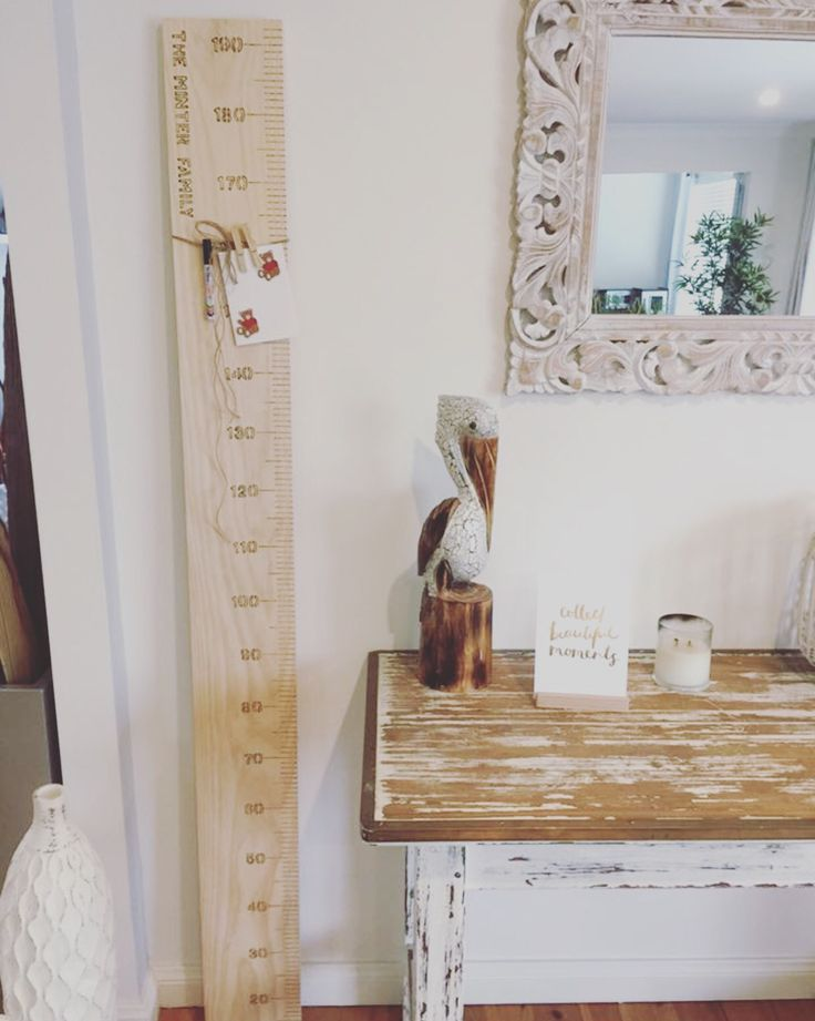 Height chart ruler, growth charts, rustic home decor