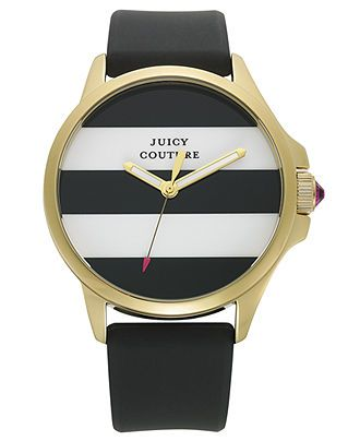 Juicy Couture Women's Jetsetter Black Silicone Strap Watch 38mm 1901098 - Watches - Jewelry & Watches - Macy's