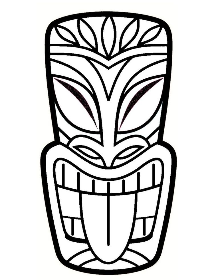 40 best Coloriages Totem Tiki images on Pinterest