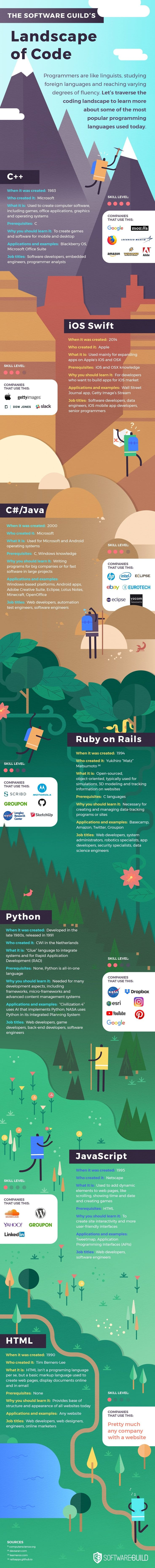 The Landscape of Code - #infographic