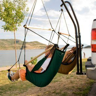 I want it!  Hammaka Trailer Hitch Stand - Hammock Stands at Hammocks