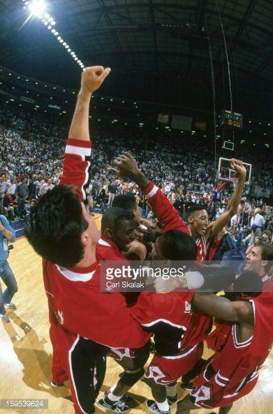 Fotografia de notícias : Chicago Bulls Jack Haley , Horace Grant , Bill...