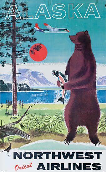 vintage Alaska travel poster