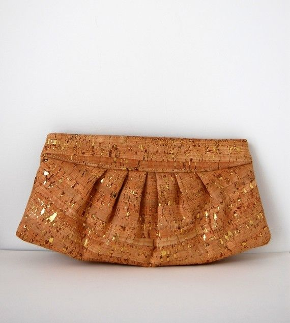 Handmade Purse Cork Handbag Clutch