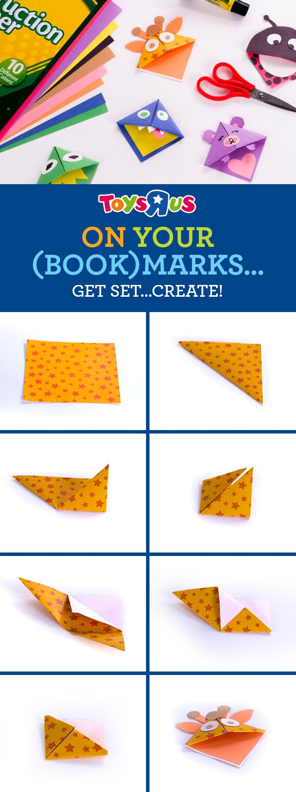 Give 'em another reason to read with fun and custom-made bookmarks for every page-turner. Just follow the tutorial above to create a unique reading pal that peeks from the top of their faves-and every book they read this year! All they need are some cool Crayola supplies: crayons, colored pencils, markers-plus their creativity-to give each bookmark a personal touch. Right now, ALL Crayola is BOGO 50% off! Stock up and start craftin'!