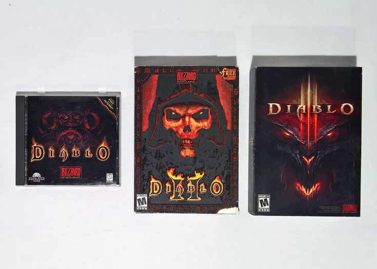 Diablo, Diablo II, Diablo III Blizzard PC Computer Video Game Lot - BOX