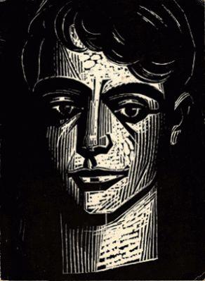 O Ισπανός ποιητής Federico Garcia Lorca -Χαρακτικό Α. Τάσσου.