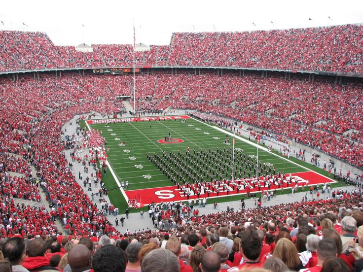 The Ohio State University football stadium packed with enthusiastic Buckeye fans! Description from pinterest.com. I searched for this on bing.com/images
