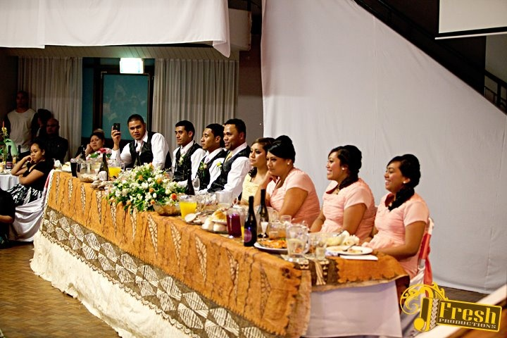 Tongan Tapa used as table cloth
