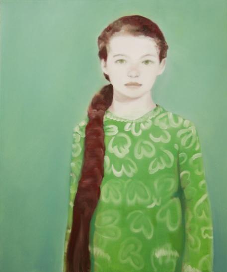 meisje in groen