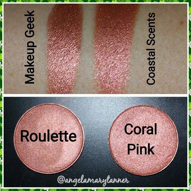 Makeup geek roulette vs coastal scents coral pink