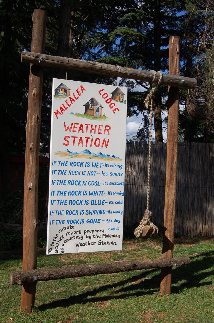 Weerstation in Lesotho :-)