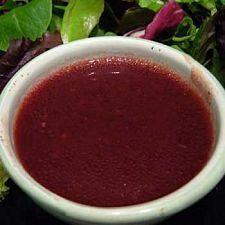 Quick Raspberry Dressing    Ingredients:  1 cup extra virgin olive oil  1/2 cup fresh raspberries  2 tbsp. balsamic vinegar