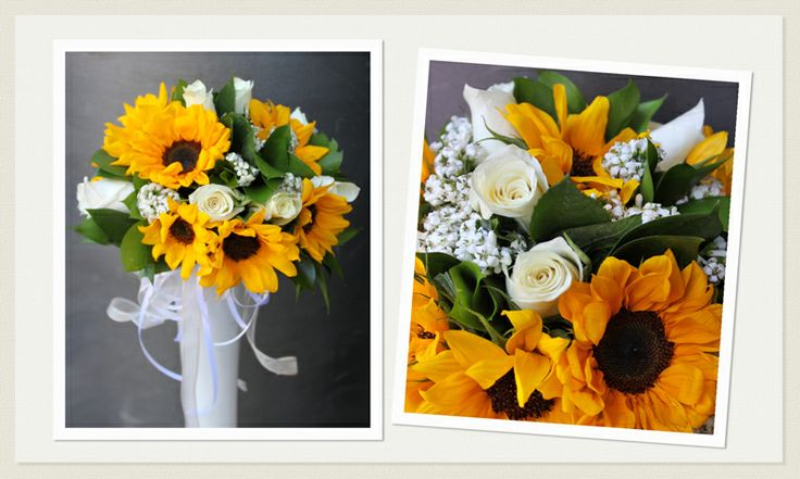 Bouquet da Sposa #girasoli | Wedding Bouquet #sunflowers #yellowwedding www.laflorealedistefania.it