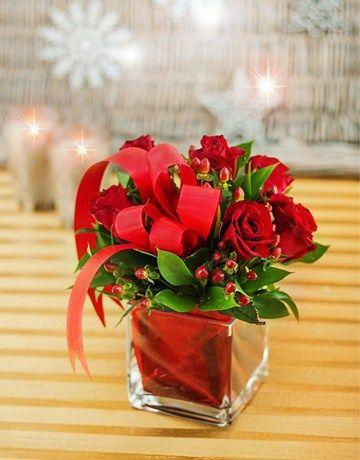 Red Rose Christmas Arrangement
