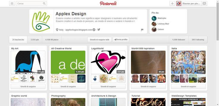 Applex Design Profile on Pinterest ; logo design, graphics, art and creativity.