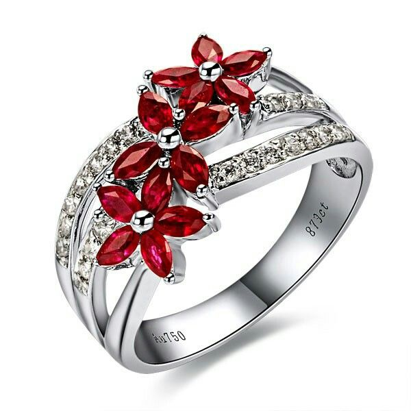 Purely Elegant... Ruby Engagement Ring