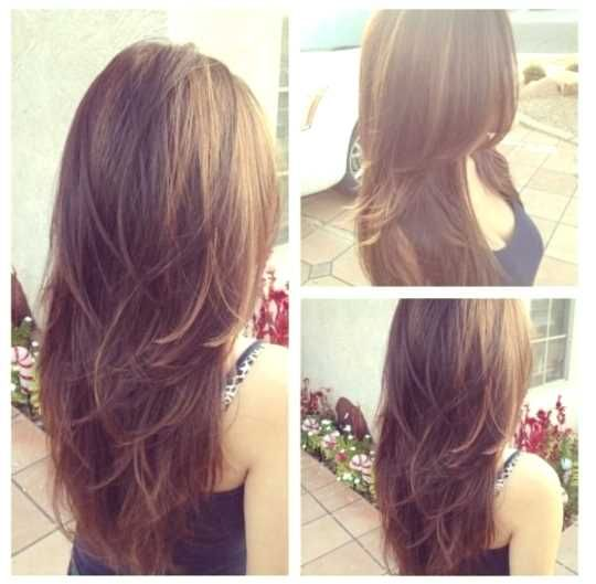 v cut layers long hair - http://www.gohairstyles.net/v-cut-layers-long-hair-4/