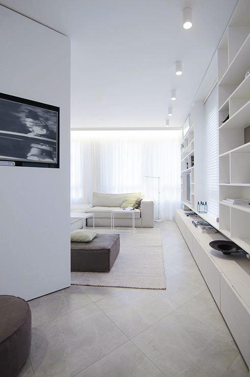 Apartment Interior - Picture gallery #architecture #interiordesign #livingroom #white