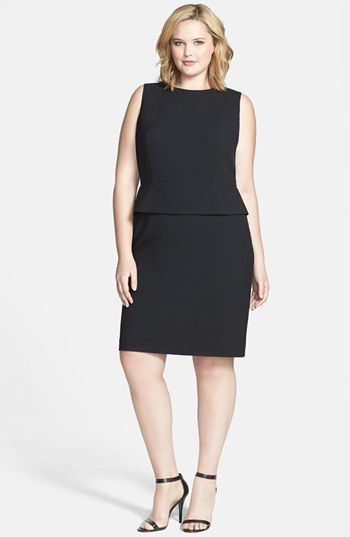 Calvin Klein Peplum Sheath Dress (Plus Size) available at #Nordstrom
