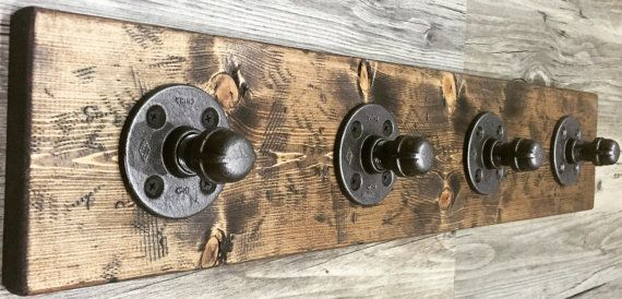 Rustic/Industrial Handmade Towel Rack/Hanger/Hook by Lulight