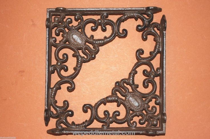 "Elegant Cast Iron Shelf Brackets Corbels 7 7/8"" X 8"", B-29"