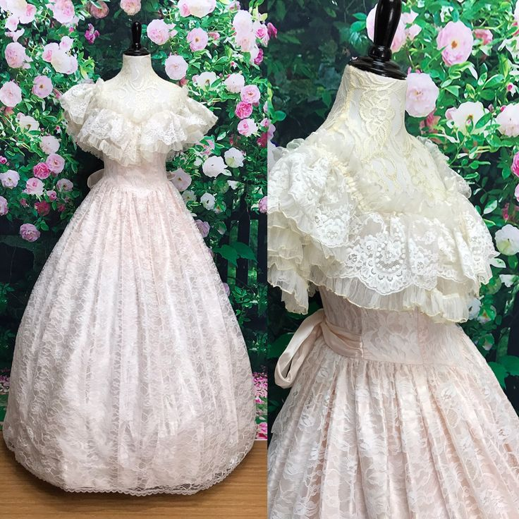 A personal favorite from my Etsy shop https://www.etsy.com/listing/541763046/70s-gunne-sax-pink-lace-off-the-shoulder