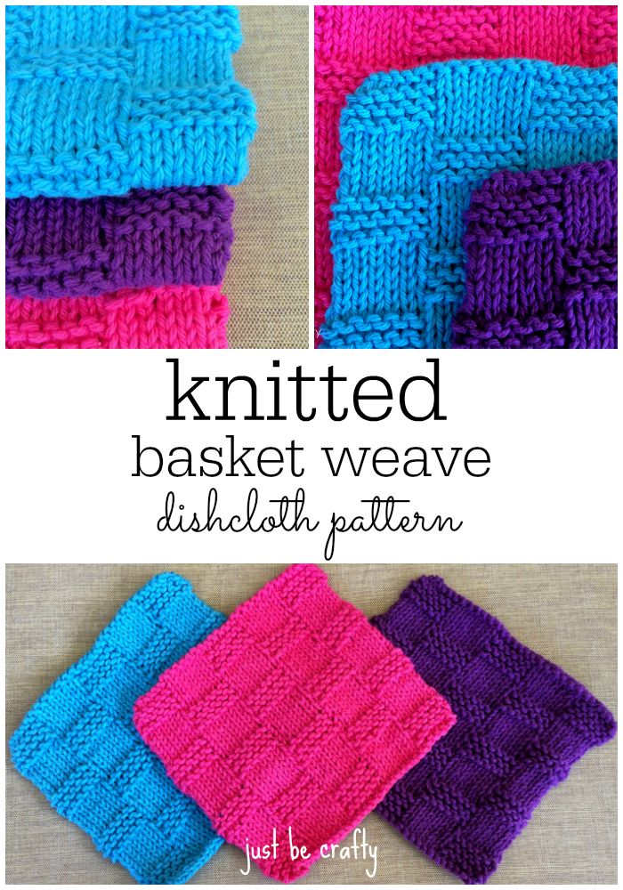 Knitting Basket Weave : Basket weave dishcloth pattern patterns crochet and